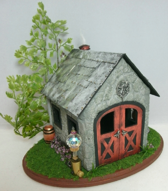 Dollhouse Miniature Steampunk Fairy House