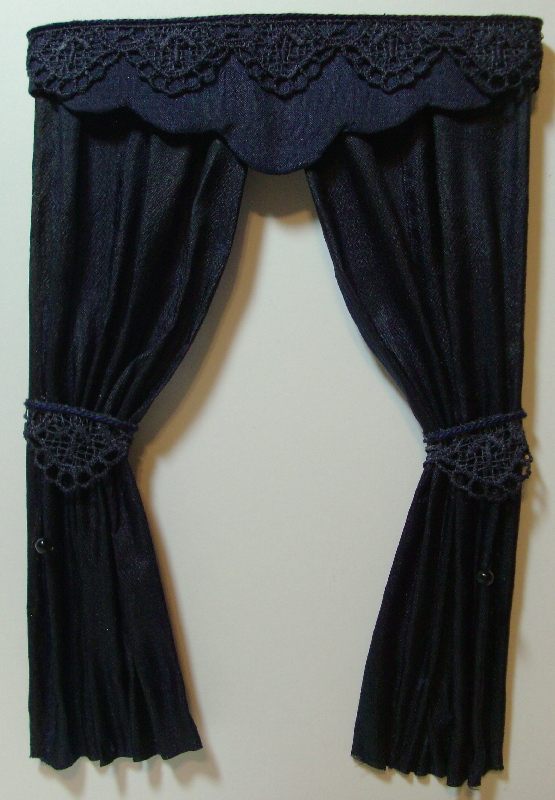 Dollhouse Drapes, Curtains and Window Treatments
