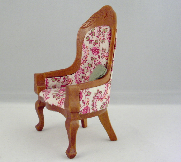 Pink Floral and Oak Courting Parlor Furniture